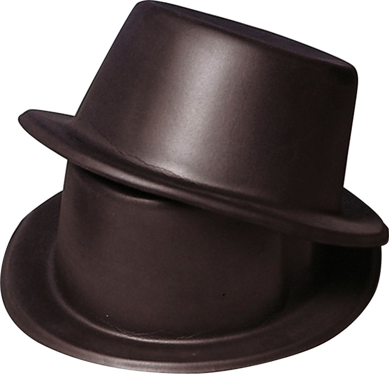 Zwarte hoge vinyl hoed