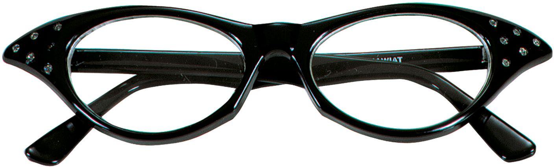 Zwarte jaren 50 bril