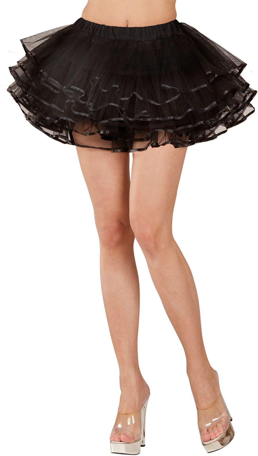 Zwarte luxe ballerina rokje