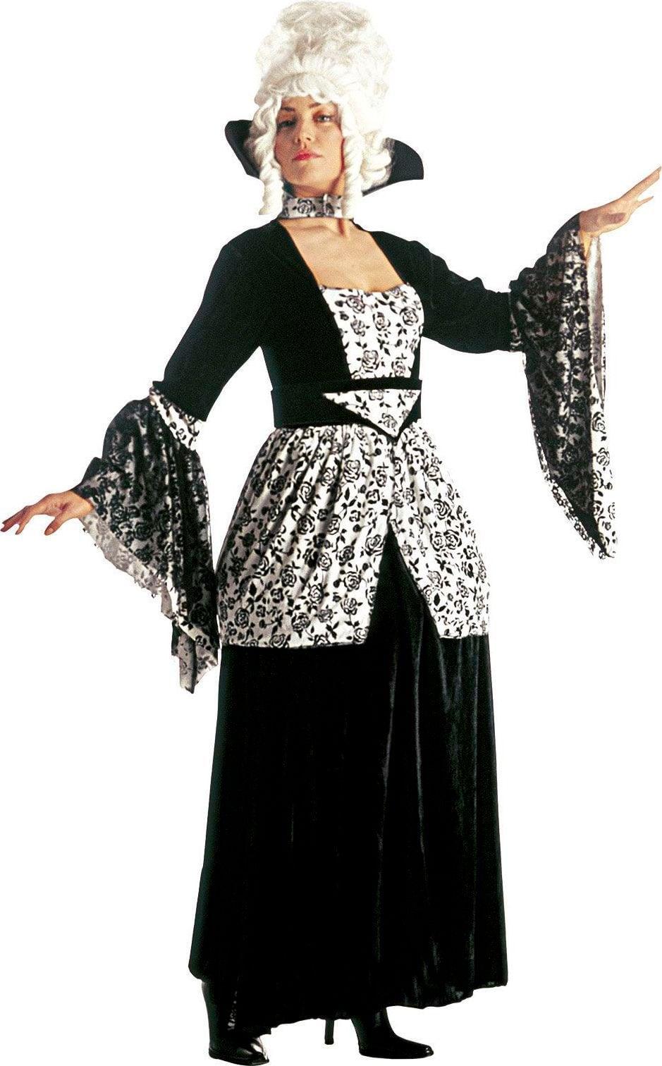 Zwarte markiezin jurk
