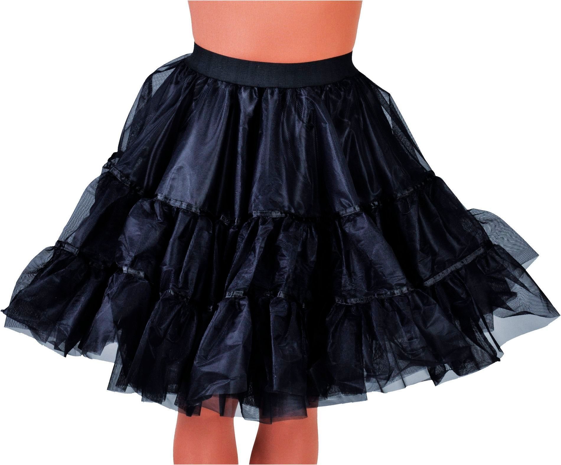 Zwarte petticoat middel lang vrouwen