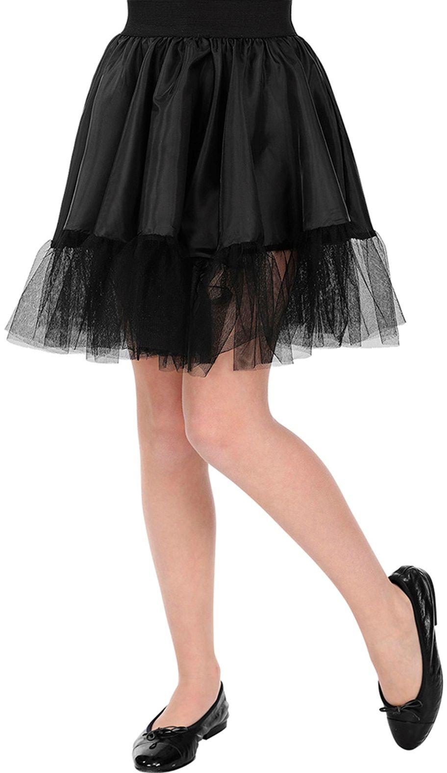 Zwarte petticoat rok meisjes