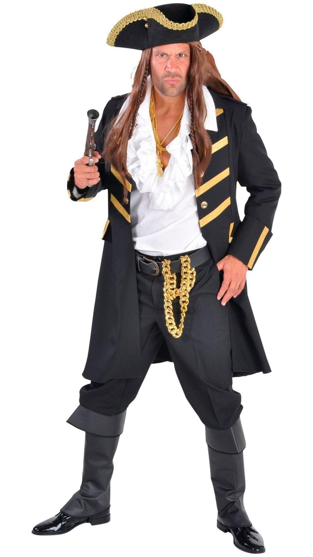 Zwarte piratenmantel mannen