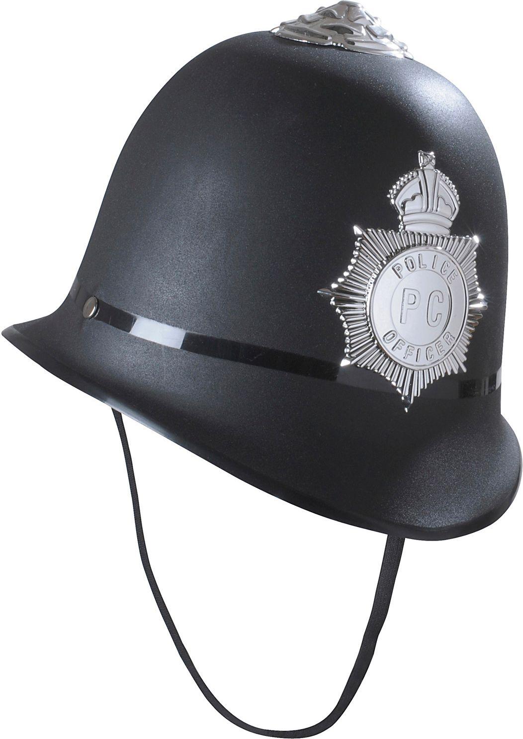 Zwarte politie helm