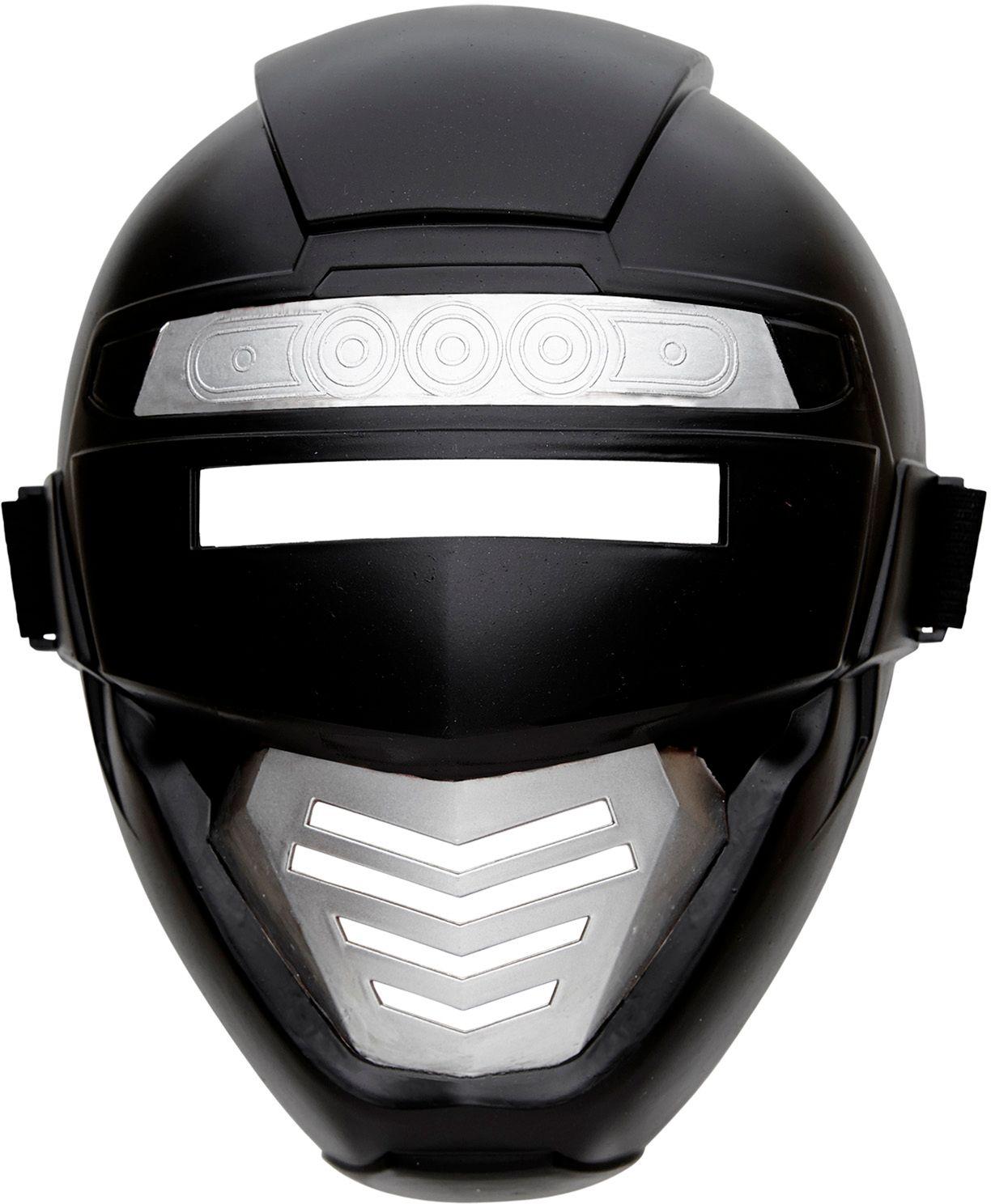Zwarte robot masker kind