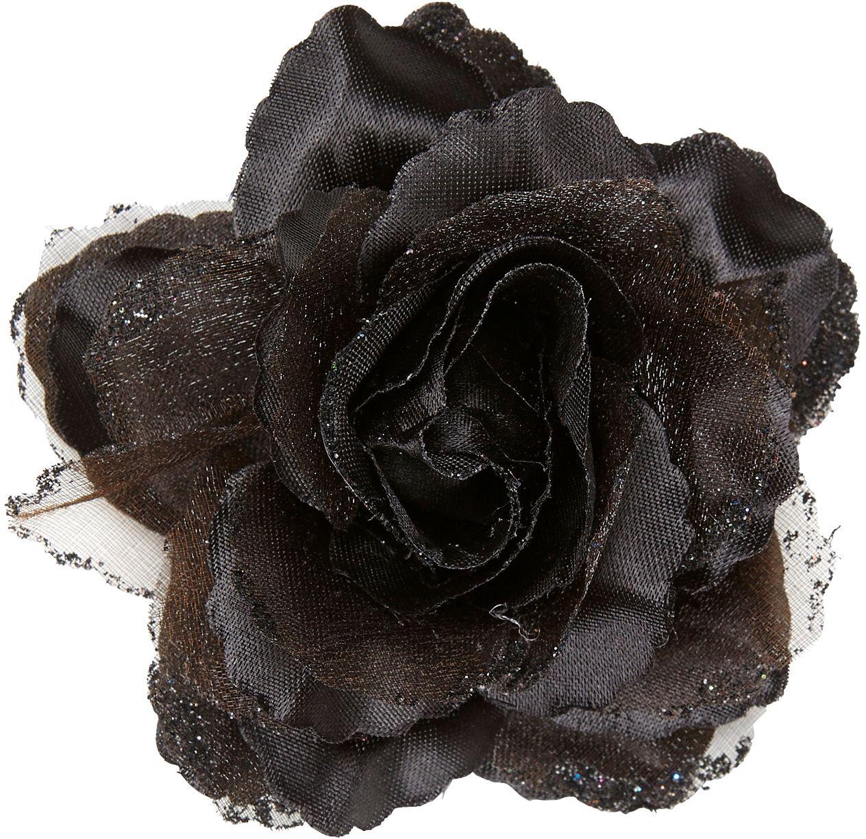 Zwarte roos haarspeld