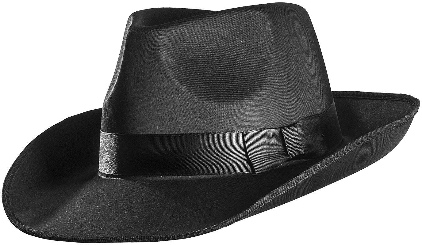 Zwarte satijnen hoed