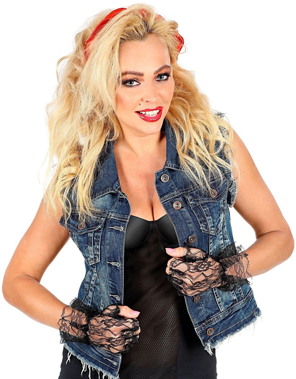 Zwarte toploze kanten handschoenen
