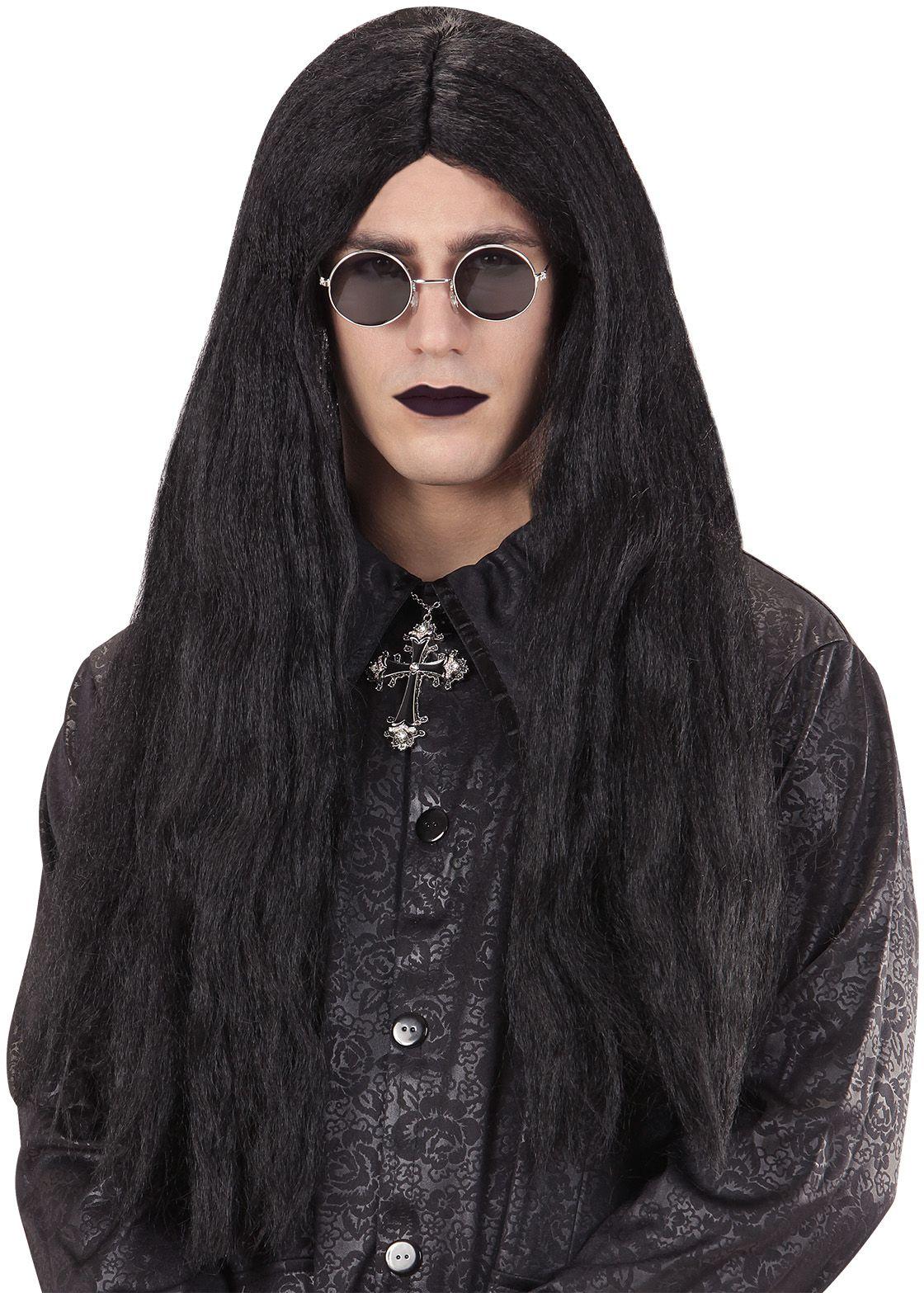 Zwarte vampier pruik