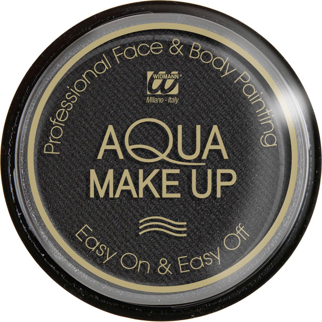 Zwarte waterbasis make-up
